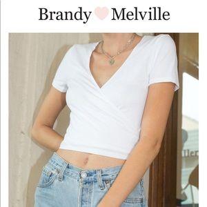 "Brandy Melville | ""Rae"" wrap top"